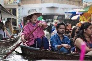 Floating Market & Erawan Falls – How to Get There From Bangkok